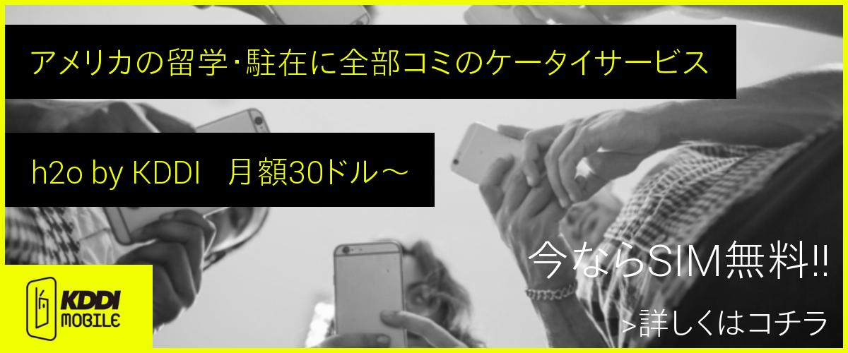 アメリカSIMの決定版 h2o by KDDI 正規代理店 YELLOW MOBILE-イエローモバイル